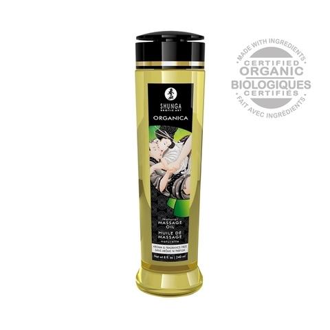 Shunga Масло массажное для тела без аромата «Натуральное» серии Органика, 240ml