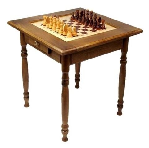 Стол шахматный тонированный с ящиком СТ3