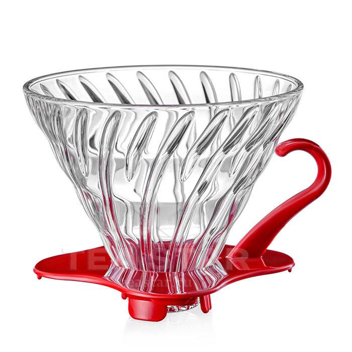 Кофейные аксессуары Воронка Hario 60, VDG-02r, стеклянная для приготовления кофе, красная Hario_V60-VDG-02r-1.jpg