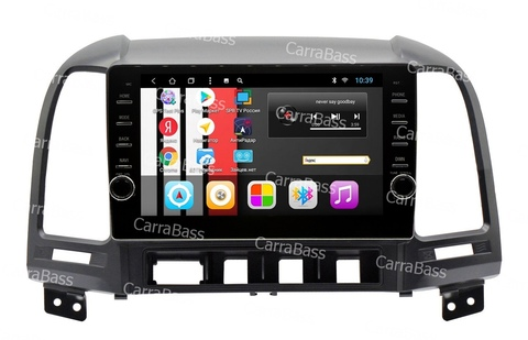 Магнитола для  Hyundai Santa Fe 2006-2012 Android 8.1 модель CB1075T8