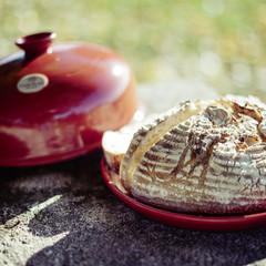 Форма с куполом Cloche Pain для хлеба Emile Henry (гранат)