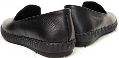 Кэжуал черные слипоны туфли под джинсы мужские Broni M36-01 Black.
