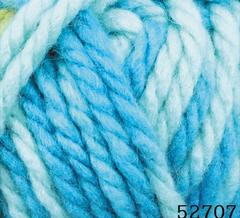 52707 (Бело-бирюзовый меланж)