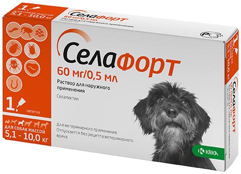 Селафорт 12% 60 мг. для собак 5,1-10 кг. 0,5 мл.
