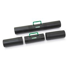 Тубус Стамм с ручкой (длина 65 см, диаметр 10 см, 3 секции, черный)