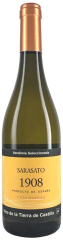 Вино Сарасато Шардоне белое сухое с защищ.географ.указ. рег. Кастилия кат. VDT 0,75л.