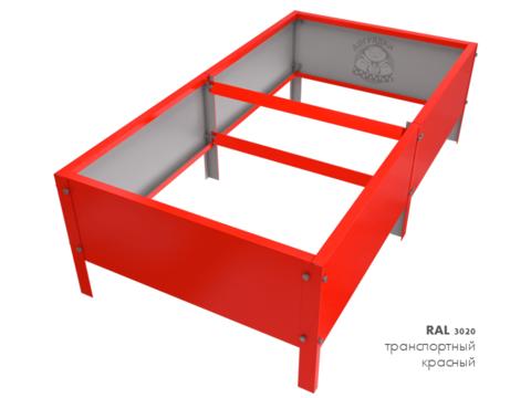Оцинкованная грядка с полимерным покрытием RAL 3020 транспортный красный