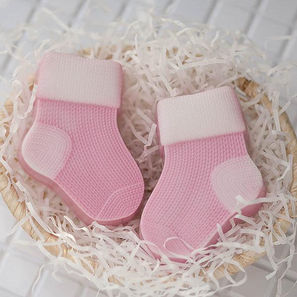 Пластиковая форма для мыловарения Вязаный носок