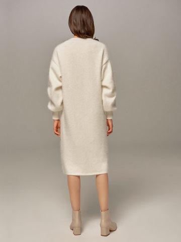Женское платье белого цвета из ангоры - фото 4