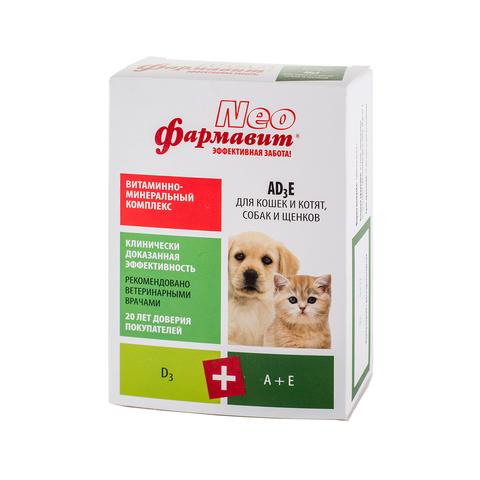 Фармавит Neo АD3E для кошек и котят, собак и щенков 90 таб.