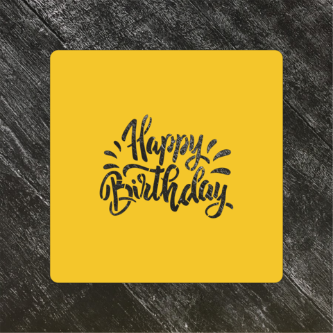 Трафарет Надписи №8 Happy Birthday/С днем рождения