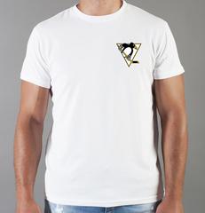 Футболка с принтом НХЛ Питтсбург Пингвинз (NHL Pittsburgh Penguins) белая 008