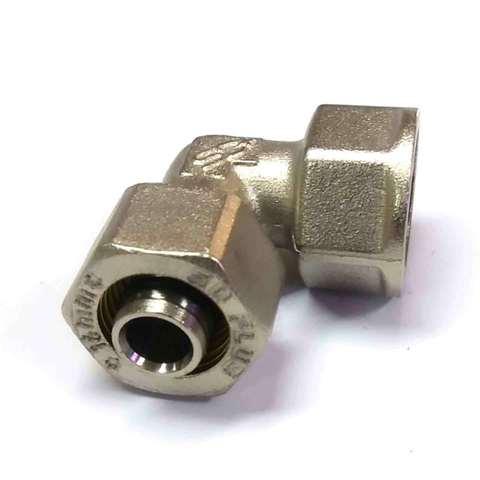 Угол обжимной для металлопластиковых труб 16*1/2 внутренняя резьба SD Plus