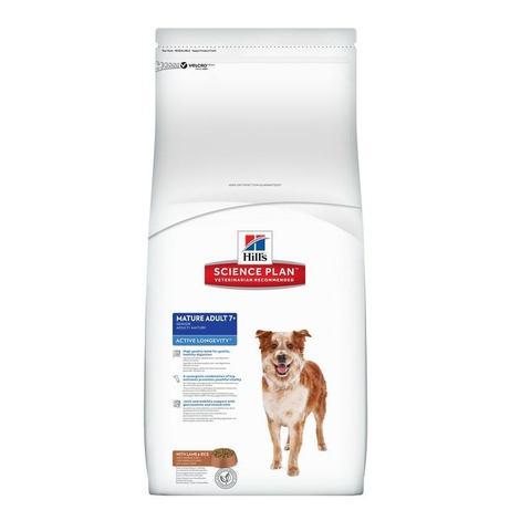 12 кг. HILL'S Science Plan Сухой корм для пожилых собак средних пород с ягненком и рисом Mature Adult 7+ Active Longevity Medium Lamb&Rice