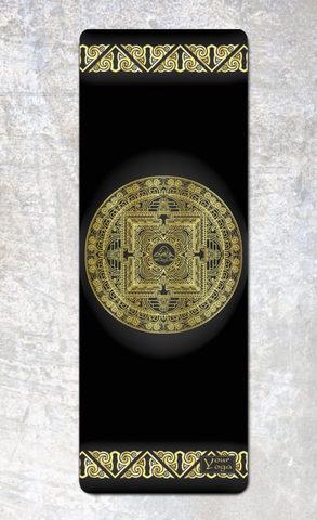 Коврик для йоги Tibet Mandala 178*61*0,1-0,3 см из микрофибры и каучука