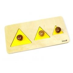 Материалы Монтессори треугольники на подставке