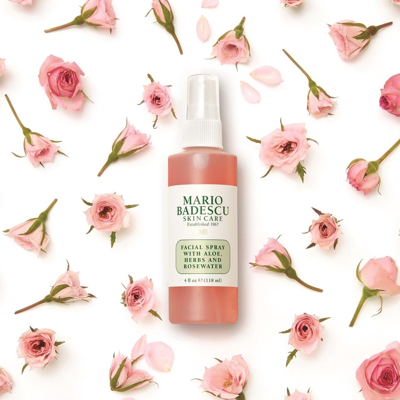 Набор Mario Badescu Facial spray + Rose Lip Balm