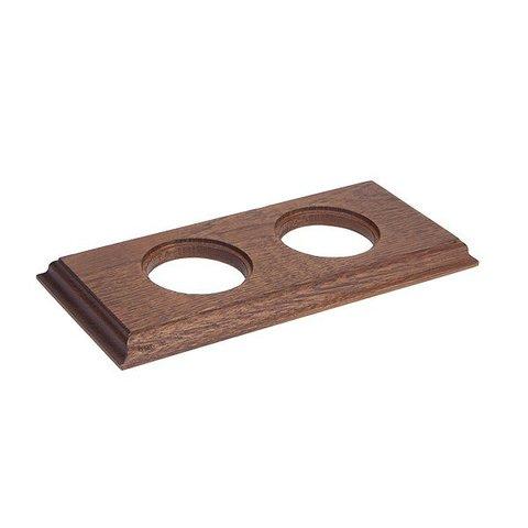 Рамка на 2 поста для внутреннего монтажа. Прямоугольник. Цвет Дуб коричневый. Salvador. С12ДК