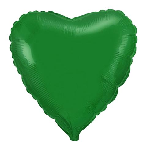 Шар-сердце зелёный, 45 см