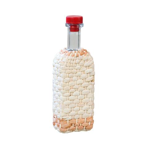 Бутылка стеклянная 0,5 л. «Хуторок», оплетенная листьями кукурузы