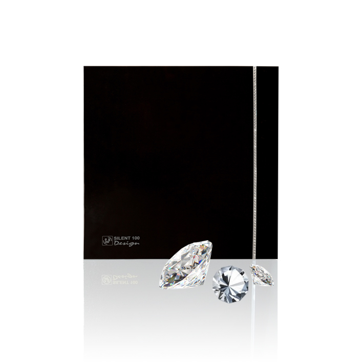 Silent Design series Накладной вентилятор Soler & Palau SILENT-100 CRZ DESIGN SWAROVSKI BLACK сваровски.jpeg