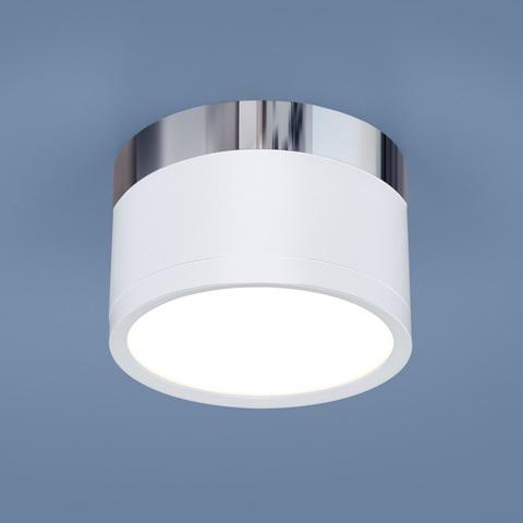 Накладной потолочный  светодиодный светильник DLR029 10W 4200K белый матовый/хром