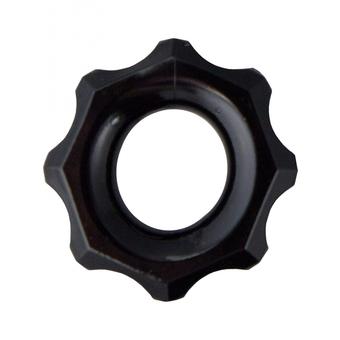 Чёрное эрекционное кольцо Spartan