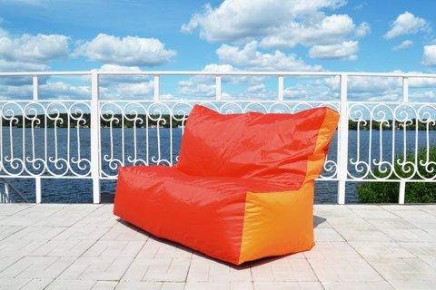 Кресло-мешок «Диван» Красно-оранжевый