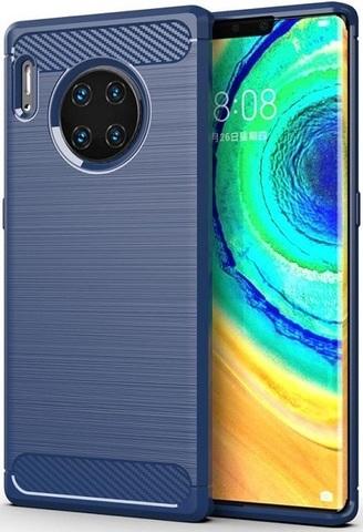 Чехол для Huawei Mate 30 Pro (Mate 30 RS) цвет Blue (синий), серия Carbon от Caseport