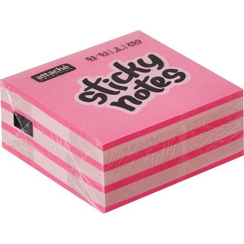 Стикеры Attache Selection Мини 51х51 мм неоновые и пастельные 2 цвета (1 блок, 250 листов)