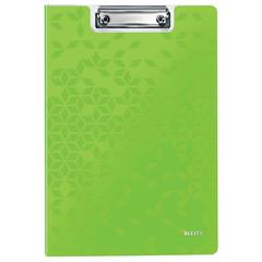 Папка-планшет Leitz Wow A4 пластиковая зеленая с крышкой