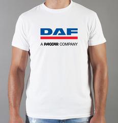 Футболка с принтом ДАФ (DAF) белая 001