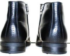 Мужские кожаные ботинки зима Ikoc 3640-1 Black Leather.