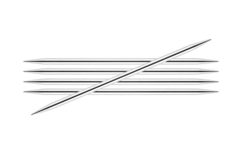 Спицы KnitPro Nova Metal чулочные 4 мм/15 см 10121