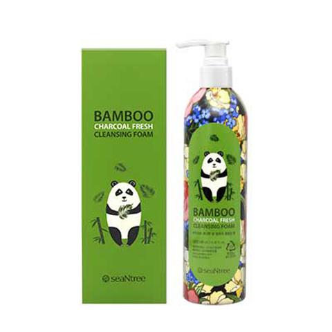 SeanTree Bamboo Charcoal Fresh Cleansing Foam пенка для умывания с бамбуковым углем