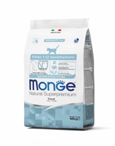 купить Monge Cat Kitten Trout cухой корм для котят с форелью 400 гр