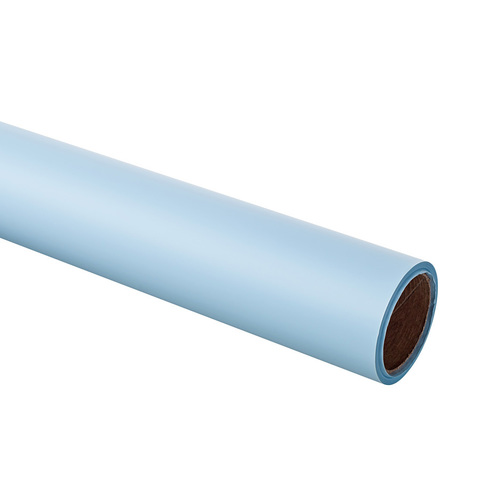 Пленка матовая 60 см на 10м, цвет: небесно-голубой