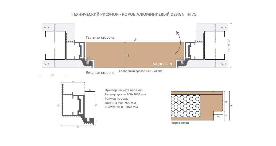 Комплект IN технический рисунок