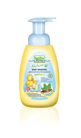 Детский гель для купания Babyline Nature  250мл c мятой и солодкой