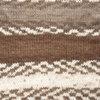 Пряжа YarnArt Crazy Color 139  (Белый, беж,коричневый)
