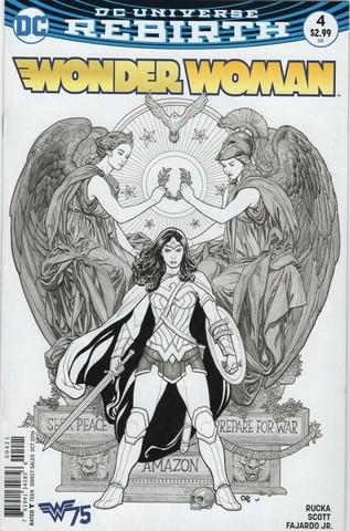 Wonder Woman #4 Rebirth (Variant Cover art by Frank Cho)