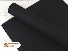 Фетр ЖЕСТКИЙ корейский черный 1,2 мм (лист 22*30 см)