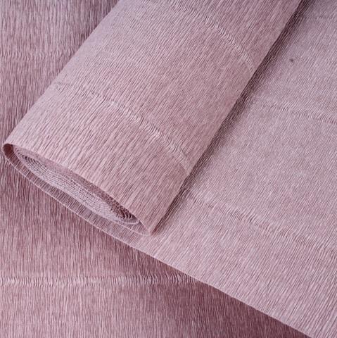 Бумага гофрированная, цвет 17Е/1 серо-розовый, 180г, 50х250 см, Cartotecnica Rossi (Италия)