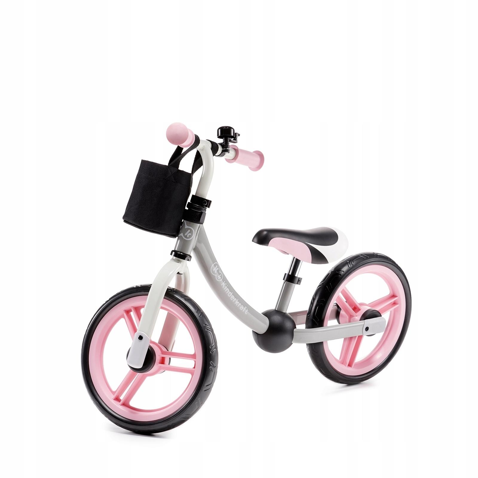 Беговел Kinderkraft 2WAY NEXT Light Pink с аксессуарами
