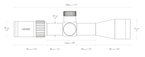 Оптический прицел Hawke Airmax 30 Compact 4-16x44 IR SF (AMX IR)
