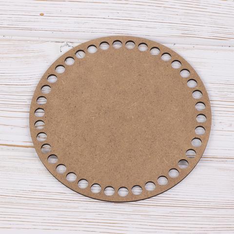 Круглое деревянное дно 15см белое ХДФ