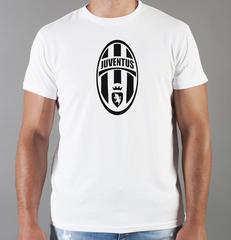 Футболка с принтом FC Juventus (ФК Ювентус) белая 003