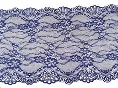 Эластичное кружево, темно-синий, 22см (Артикул: EK-1031), м