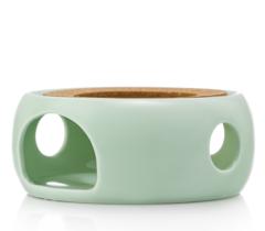 """Подставка-нагреватель """"Prometheus"""" для подогрева чайника свечой керамическая мятного цвета"""