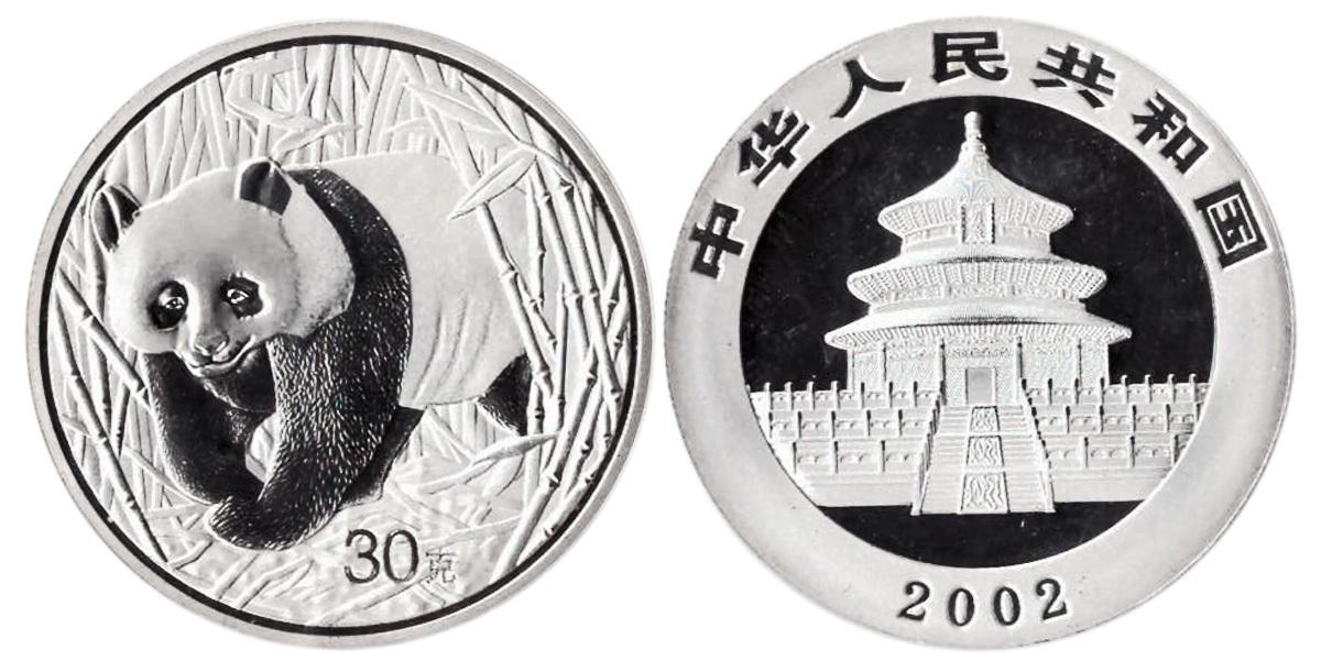 Жетон Китайская панда. Китай. 2002 год. PROOF